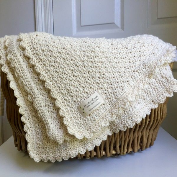 Crochet Pattern Pure And Simple Baby Blanket Baby Blanket