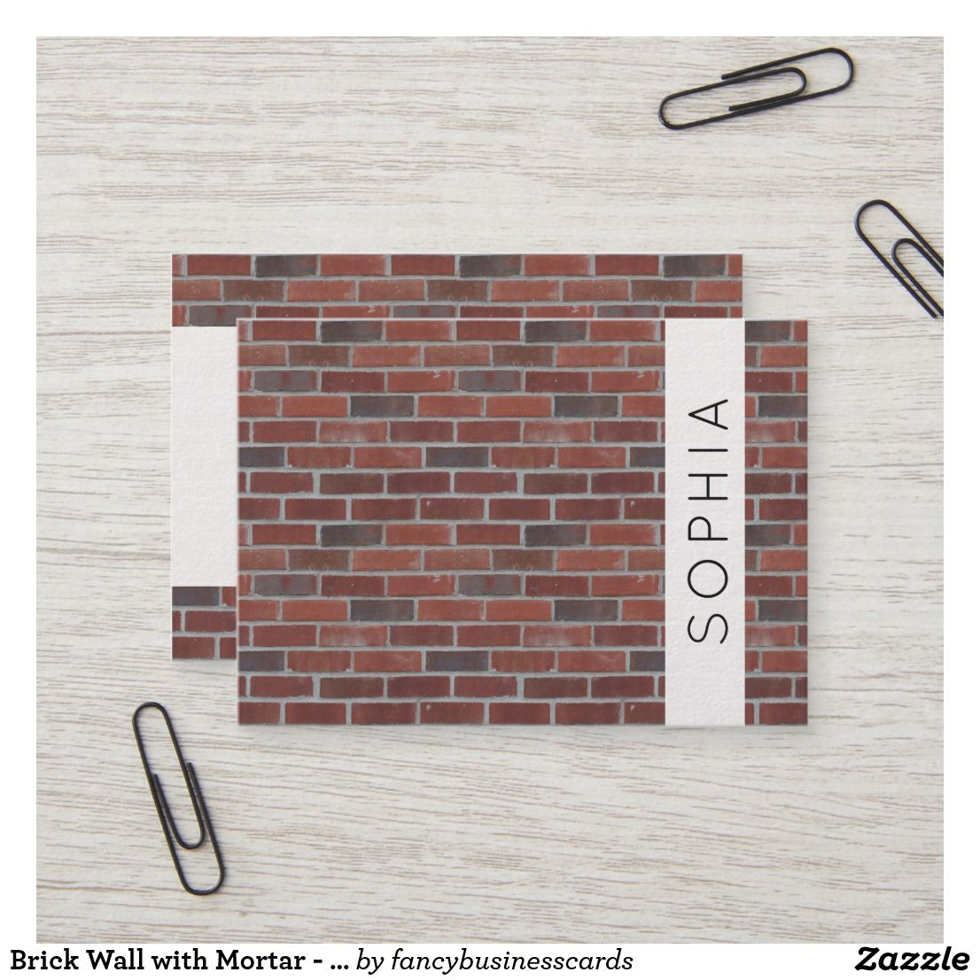 Brick Wall With Mortar