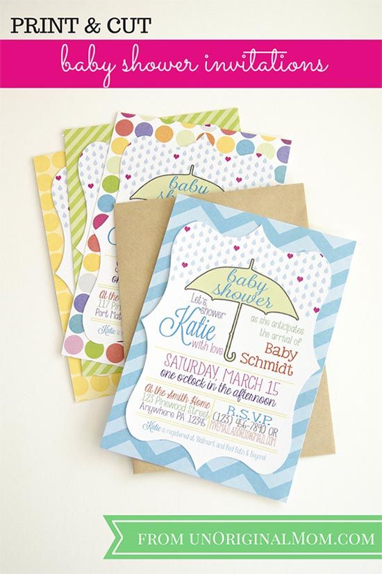 How To Use Print Cut Make Baby Shower Invitations From Unoriginal Mom Silhouette