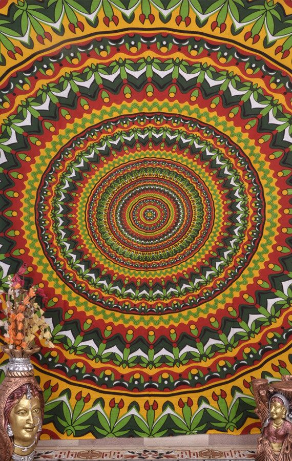 Psychedelic Mandala Tapestry ,Indian Hippie Wall Hanging ,Bohemian Twin Wall Hanging, Bedspread, Beach throw, Indian Coverlet, Decor Art by fairdecor on Etsy https://www.etsy.com/listing/206218005/psychedelic-mandala-tapestry-indian