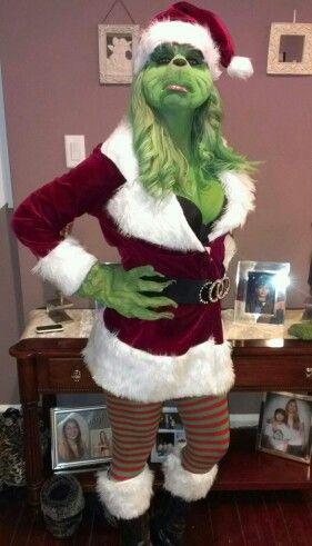 Diy female grinch costume homemade animals pinterest grinch diy female grinch costume homemade solutioingenieria Image collections
