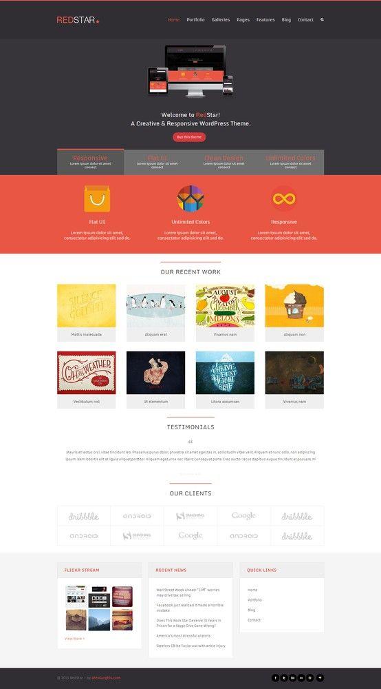 RedStar - A Creative WordPress Theme - #wordpress #theme #website ...