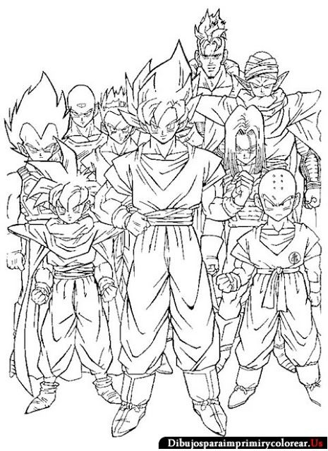 Dibujos De Dragon Ball Gt Para Imprimir Y Colorear Dragón Ball Z