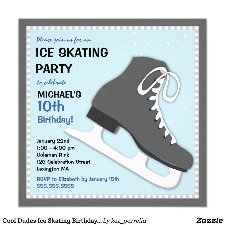 ice skating party theme | Cool Dudes Ice Skating Birthday Party ...
