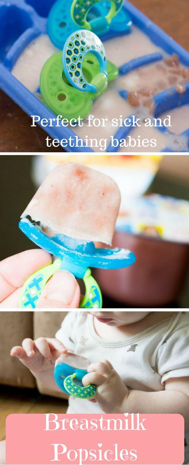 Breastmilk Popsicles For Sick And Teething Babies