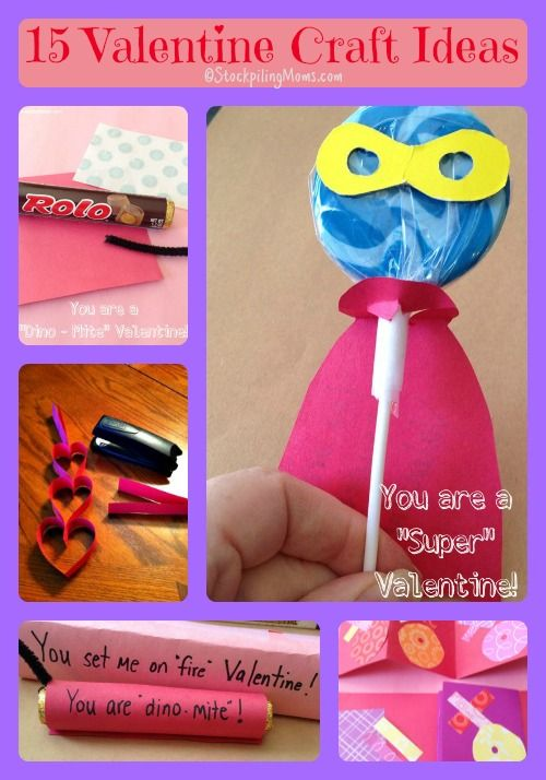 Kids Valentine Craft Ideas Part - 20: 15 Valentineu0027s Day Crafts And Ideas