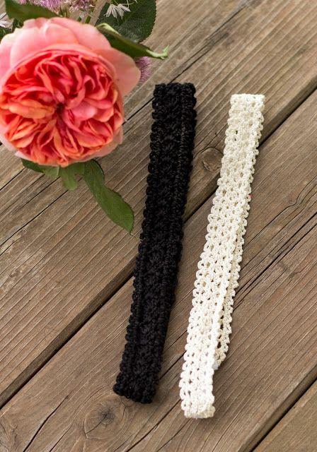 Gehäkelte Haarbänder | Häkeln, Dünn und Kostenlos