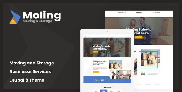 Moling Responsive Business Service Drupal 8 7 Theme Stylelib Drupal Web Design Remodeling Renovation