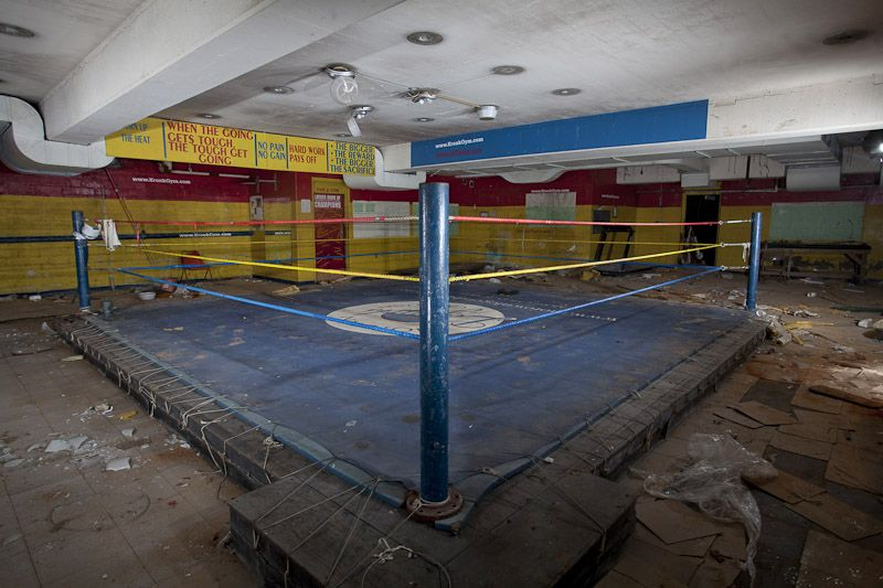 Famous kronk boxing gym now abandoned detroit mi with