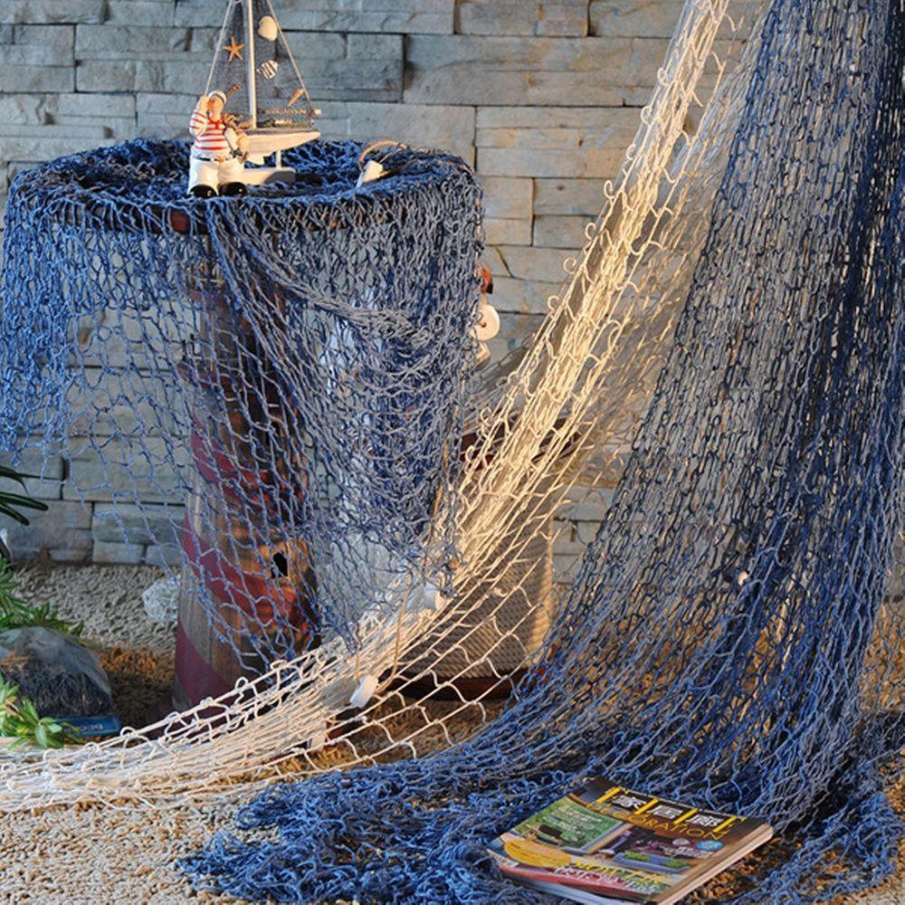 mediterranean garden home hanging decoration decorative fish net