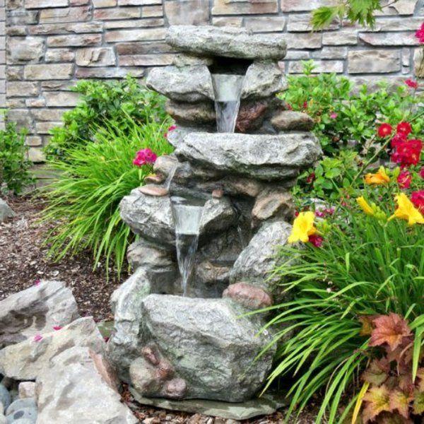 cascade et fontaine de jardin 69 dco pour les moments de relaxe archzinefr - Construire Une Fontaine De Jardin