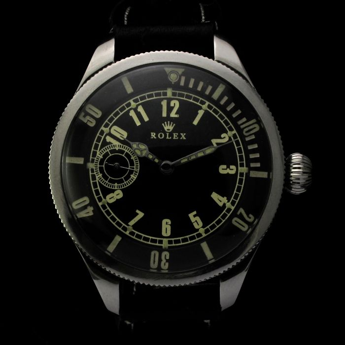 Mens COLLECTABLE 1940's ROLEX Vintage Watch MILITARY STYLE