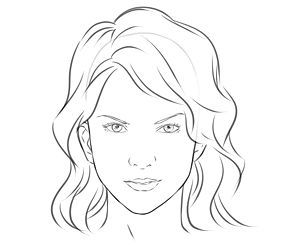 Basic Face Template If We Want To Play With It On Paper First Girl Face Drawing Female Face Drawing Face Drawing