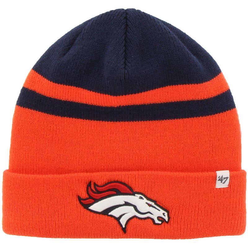 2487b41ad3c27a Denver Broncos '47 Brand Cedarwood Knit Cuffed Hat - Orange ...