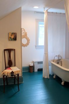 painted wood floors google search - Painted Wood Bathroom Interior