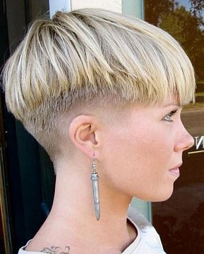 short hairstyles with shaved sides women