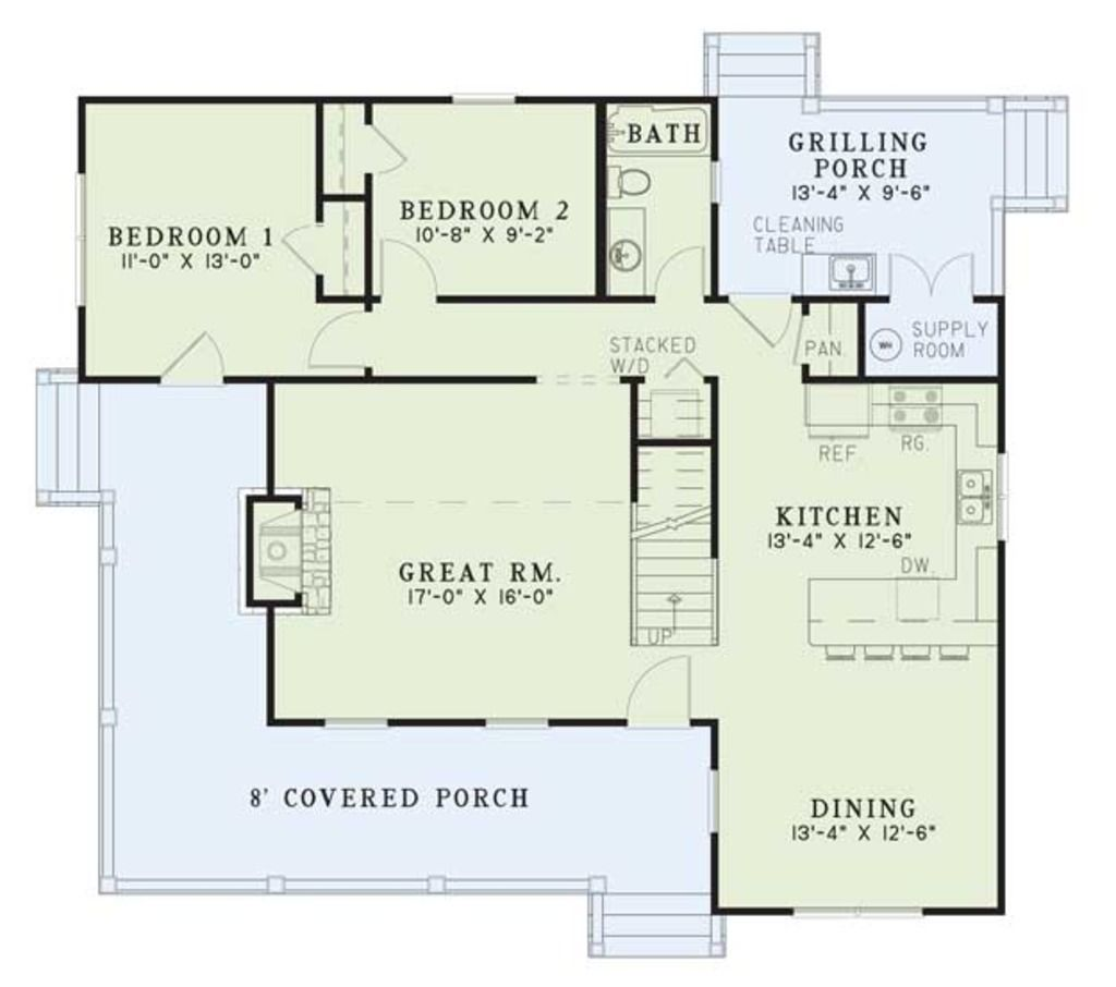 Country Style House Plan 4 Beds 200 Baths 1472 SqFt Plan 17