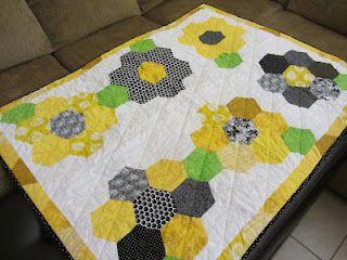 Honeycomb flower quilt