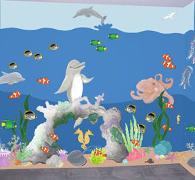 Under The Sea Adventure Create A Mural   Small Kit   Wall Sticker Outlet