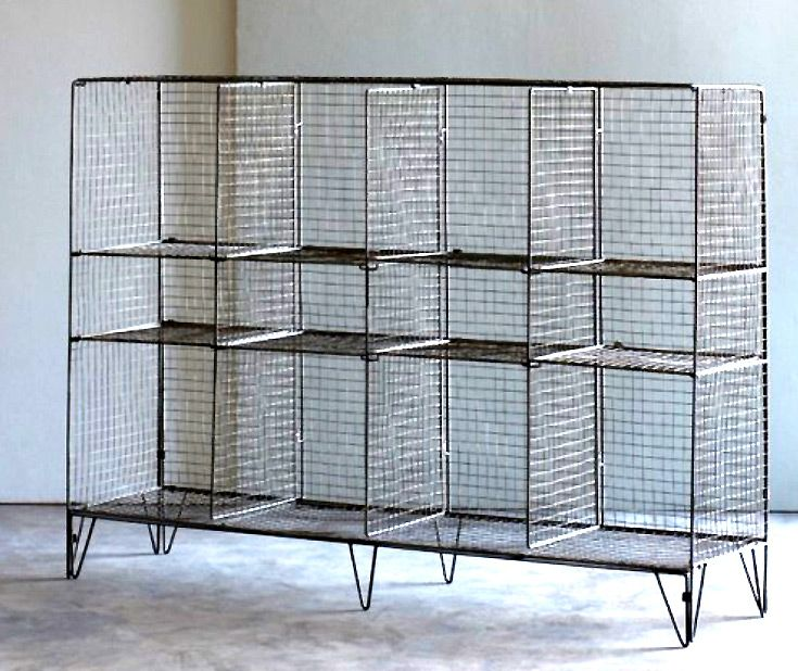 industrial wire gym shelving bookcase metal jennifer price studio ...