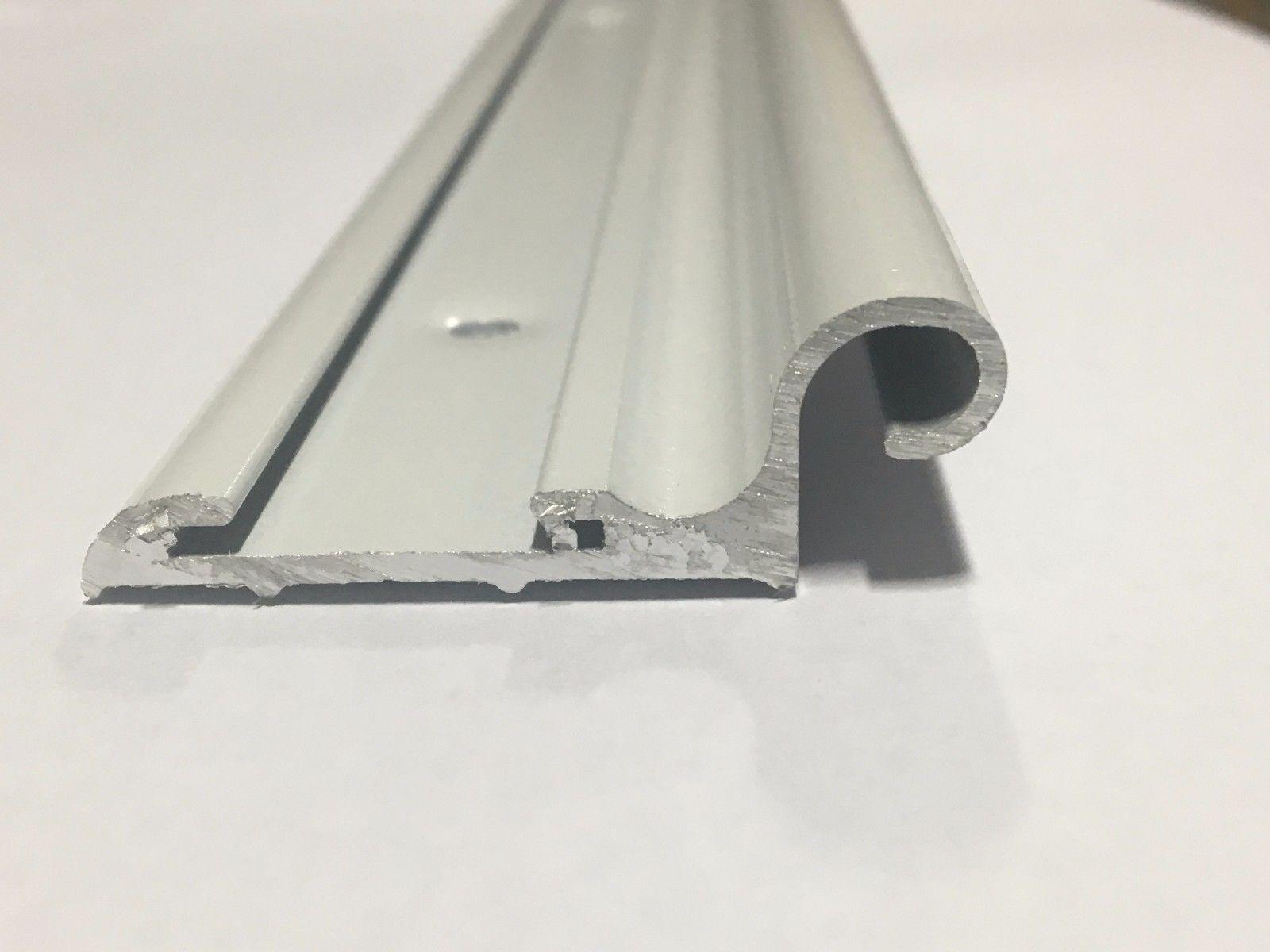 92 White Aluminum Vinyl Insert Belt Rail Hinge Trim Molding Compartment Door Aluminum Vinyl Mirror Table
