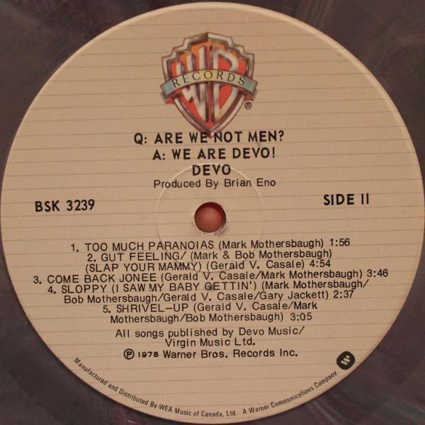 Devo Are We Not Men Lp Original Press Color Marble Original Press 1978 Limited Edition Colored Marble Vinyl Are We Not Men Marble Colors Marble Vinyl