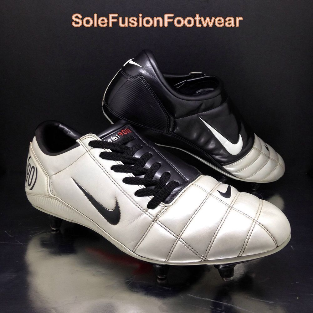 d54d0c6defd9 Nike Mens TOTAL 90 Football Boots Black White sz 12 Soccer Cleats US 13 EU  47.5