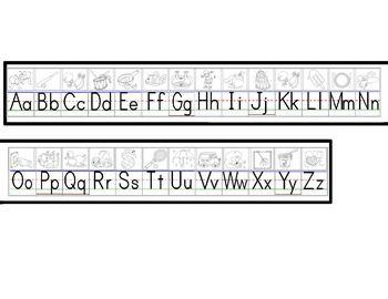 Alphabet Wall Strips Manuscript & Cursive Grades 2