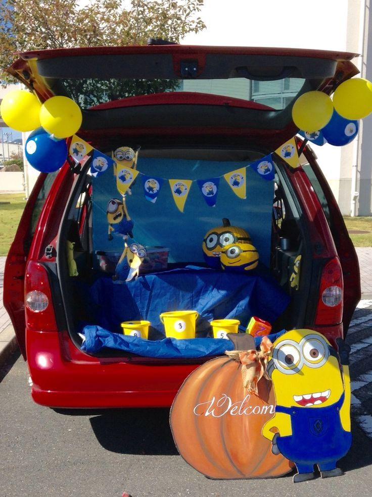Image result for minion trunk or treat Trunk or treat