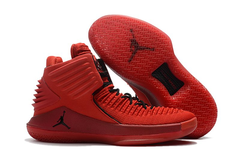 2017 New Release Air Jordan 32 XXXII Rosso Corsa Red Suede AA1253-601