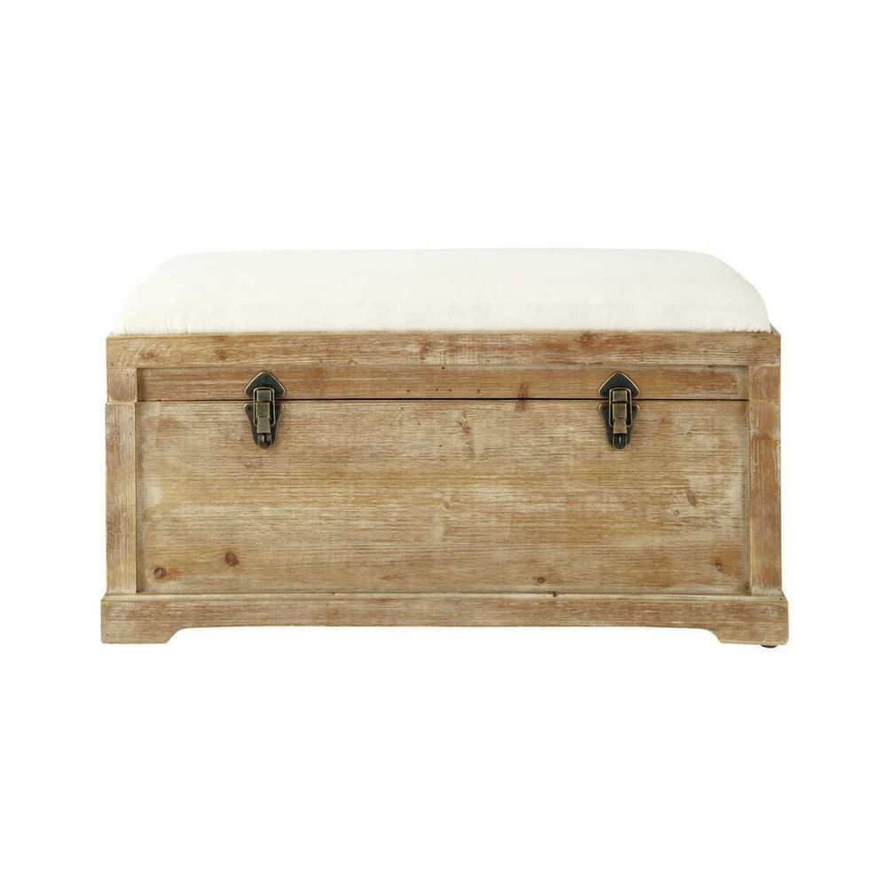 Panca portatutto in abete e cotone | Lofty Living | Bench with