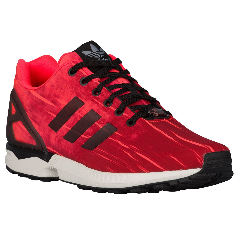 adidas Originals ZX Flux - Men's - Running - Shoes - Solar Red/Core Black