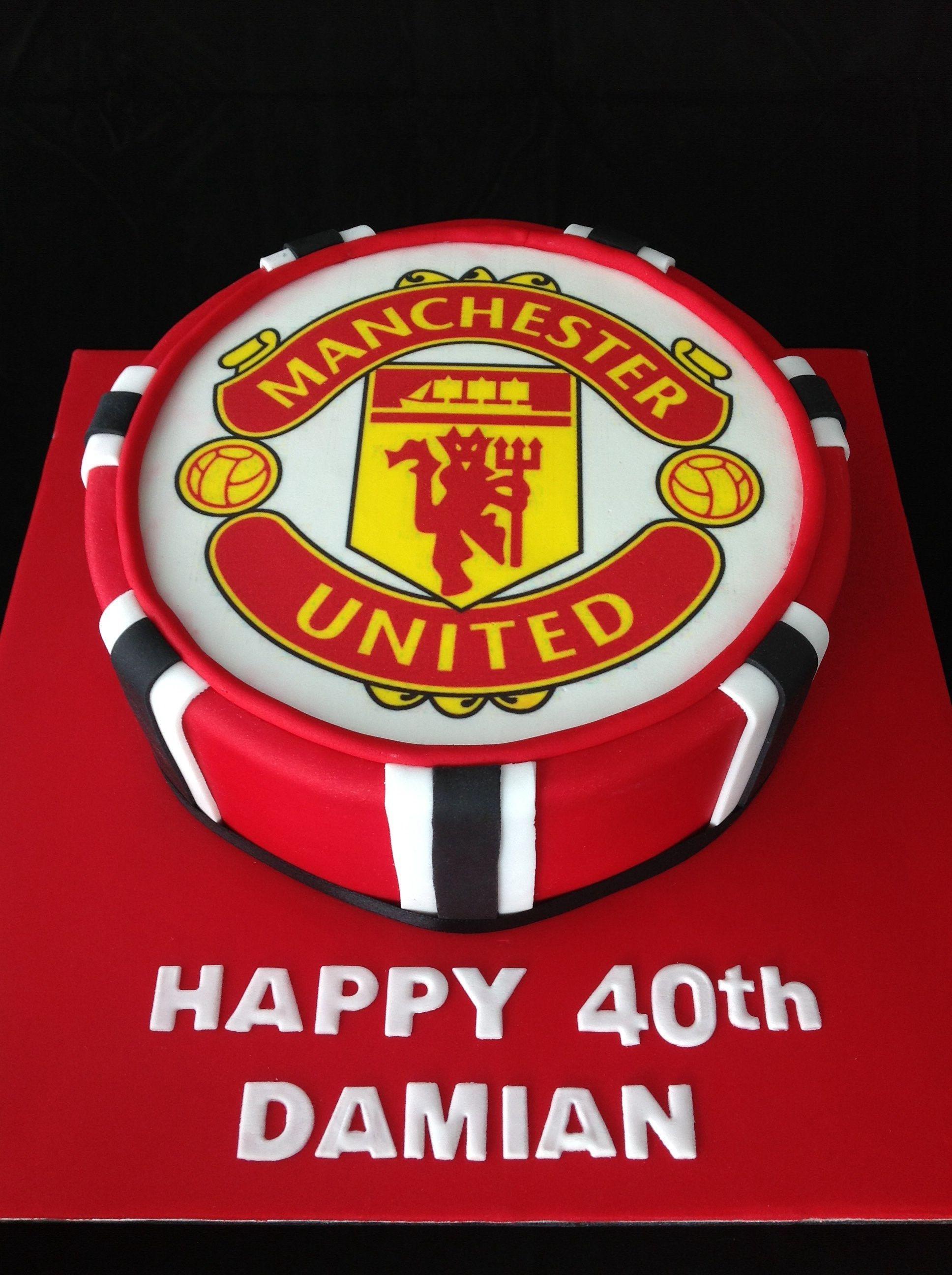 Manchester United Cake Birthday Cakes For Men Manchester United Cake Soccer Birthday Cakes