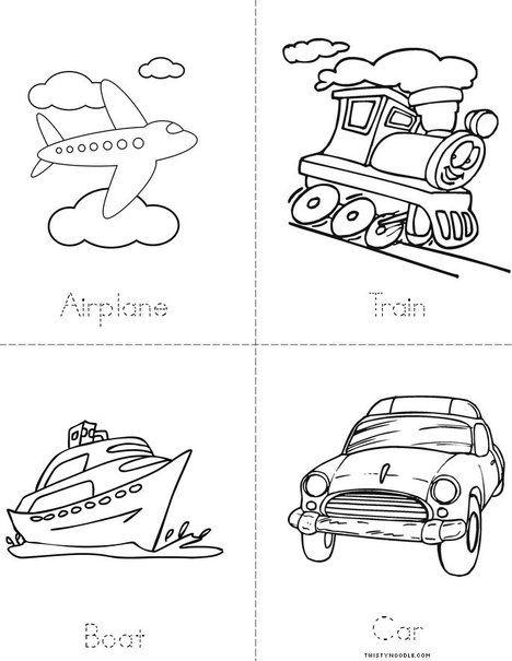 Transportation Mini Book Mini Books Kindergarten Transportation Transportation Preschool Printable transportation worksheets for