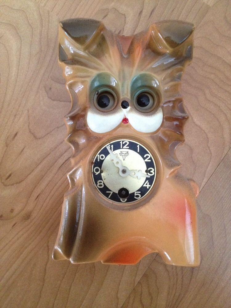 Vintage 1960 S Fency Petty Animal Pendulum Clock Japan Mi Ken Retro Ebay Pendulum Clock Pendulum Clock