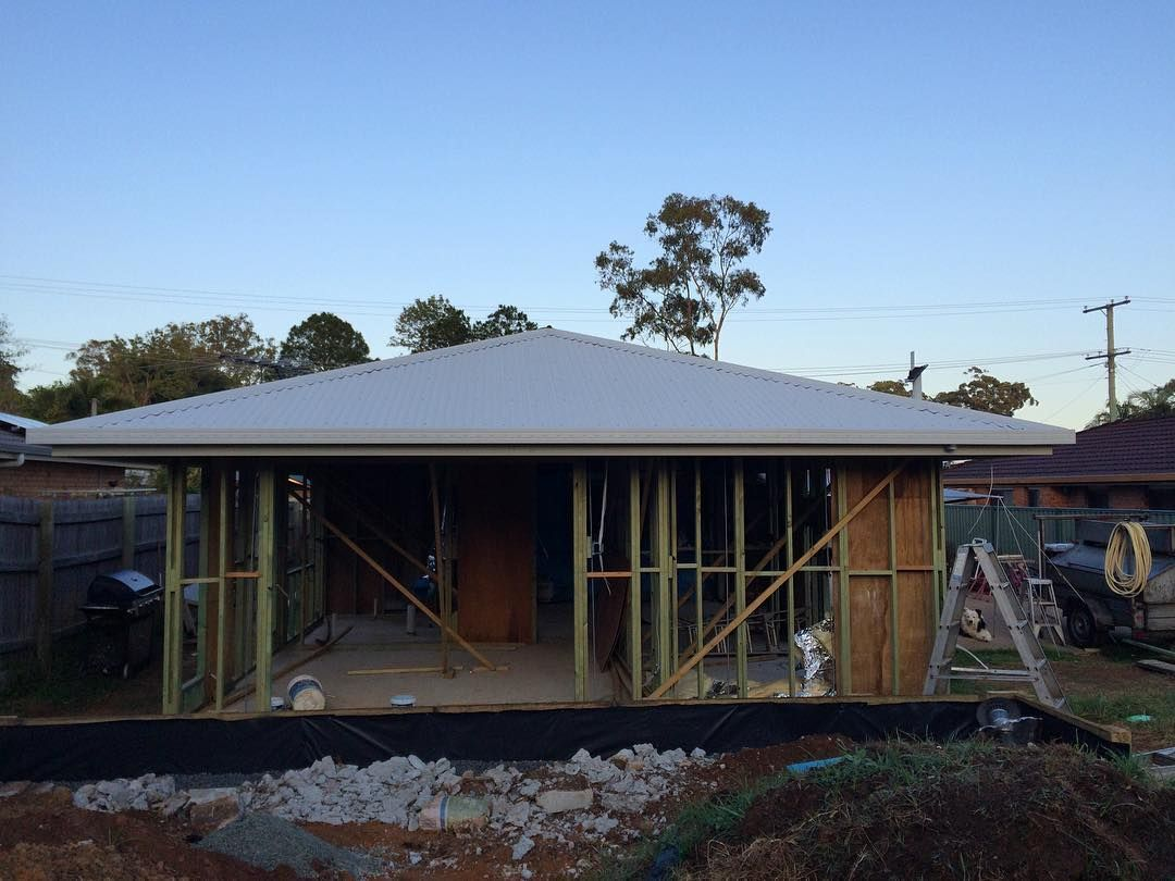 Colorbond roofing colours pictures to pin on pinterest - New Roof Is On So Clean And Beautiful Reno Surfmist Colorbond
