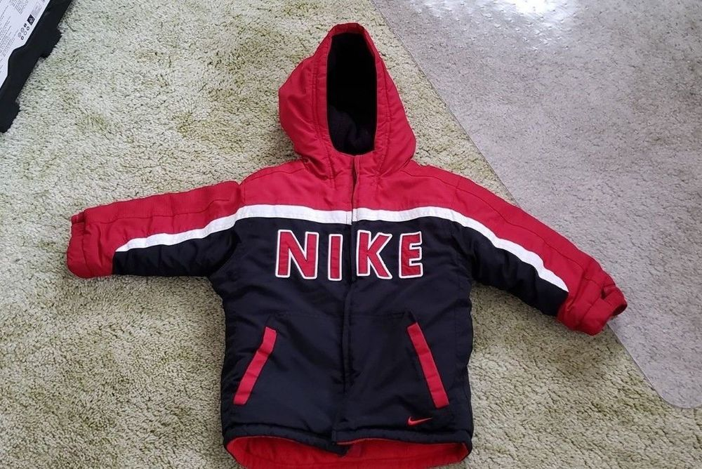 50d6e6ccad03 Boys NIKE Reversible Winter Coat Jacket W Hood 4T  fashion  clothing  shoes
