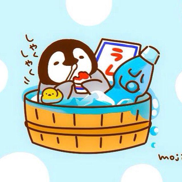 あちべたいものばかり ぺんちゃんイラスト絵夏ラムネかき氷