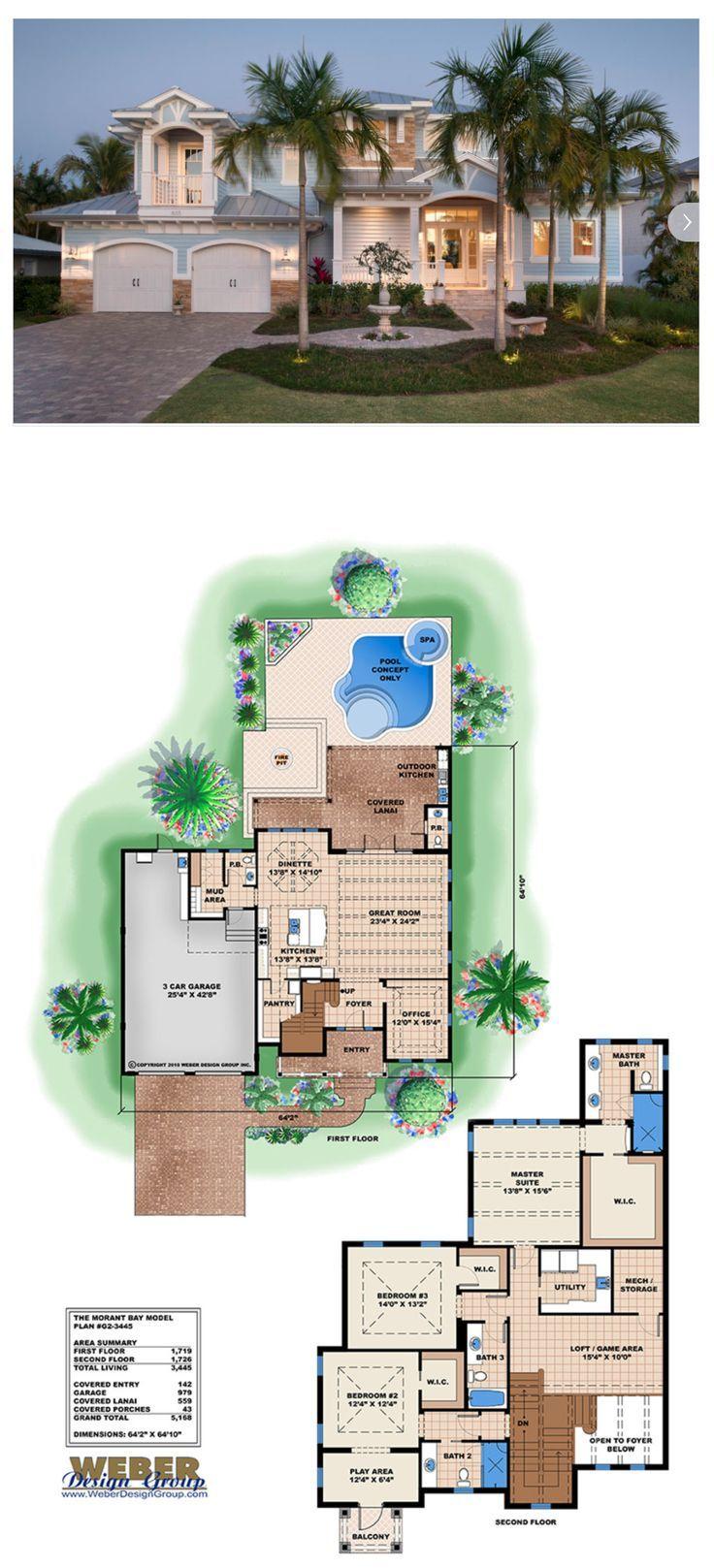 Beach House Plan Coastal Waterfront Home Floor Plan 2 Story Beach House Interior Beach House Plans Beach House Design