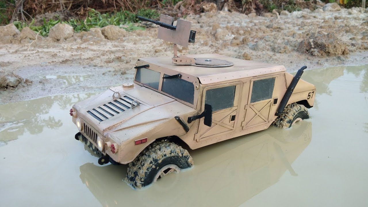 Rc Mud Humvee 4x4 In 2021 Military Vehicles Army Men Toys 4x4