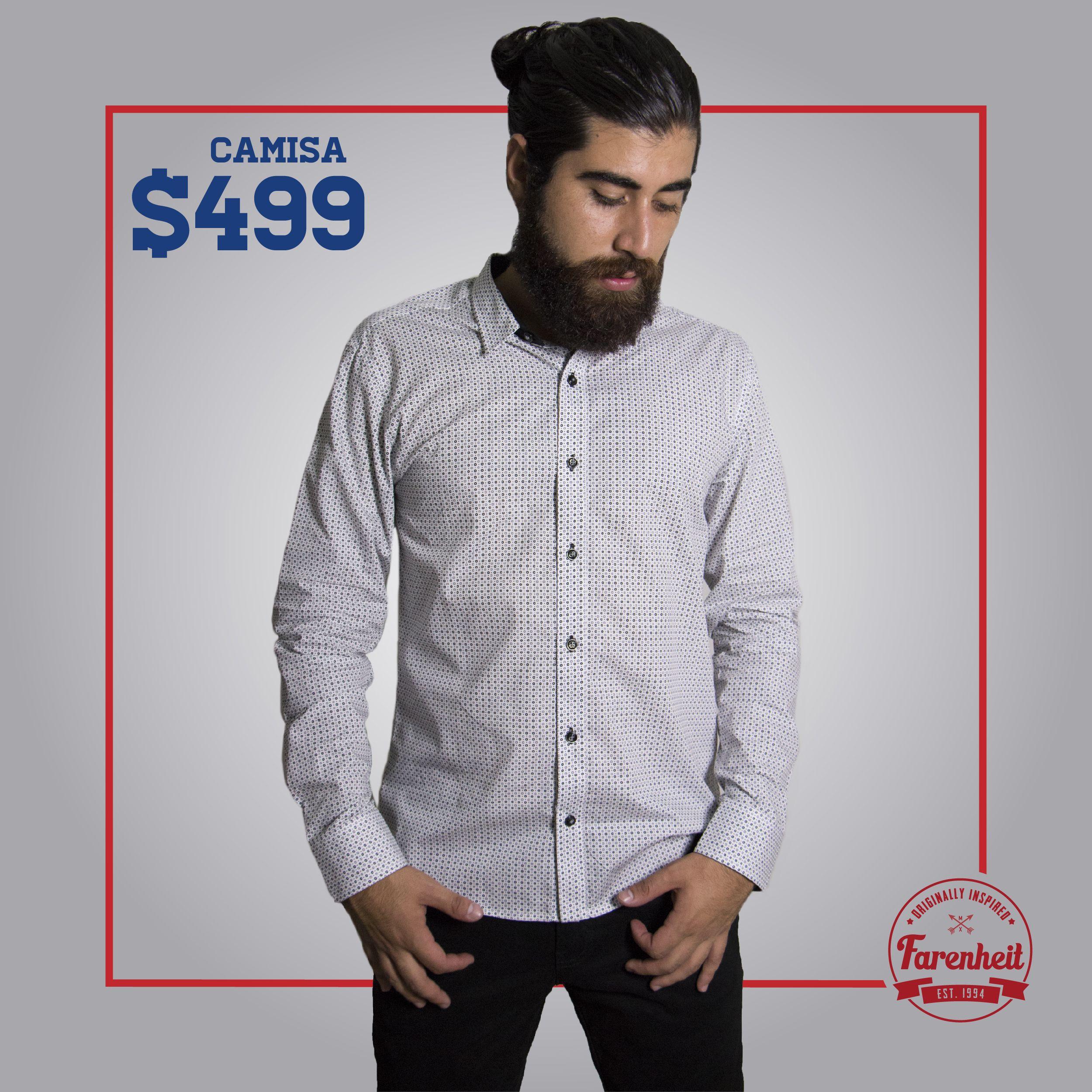 b66990805fc5e Camisa blanca con puntos negros Código  14520 Precio   499