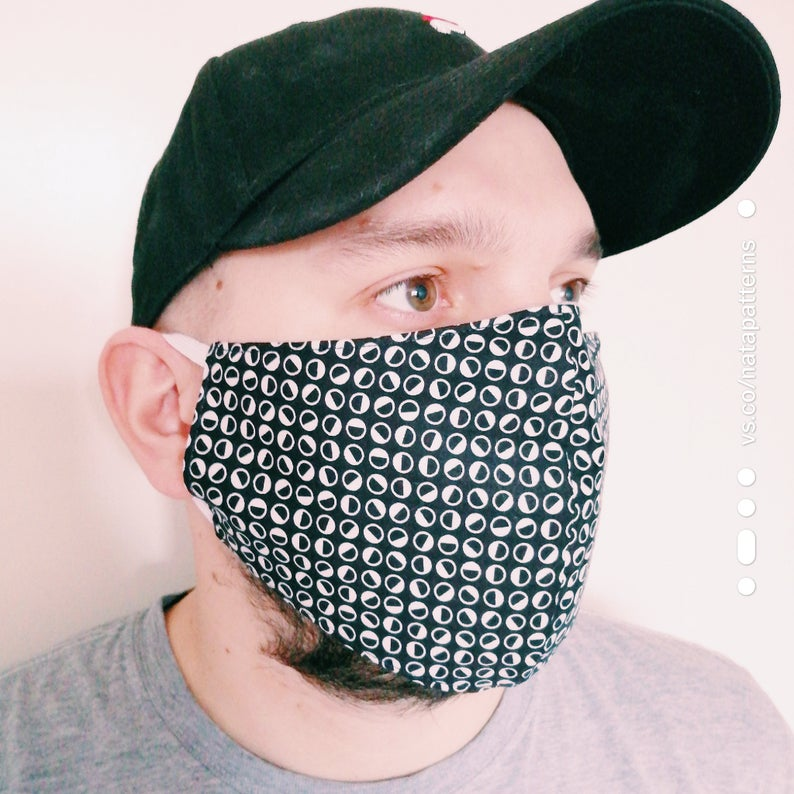 Face Mask Sewing Pattern PDF Mask with filter pocket