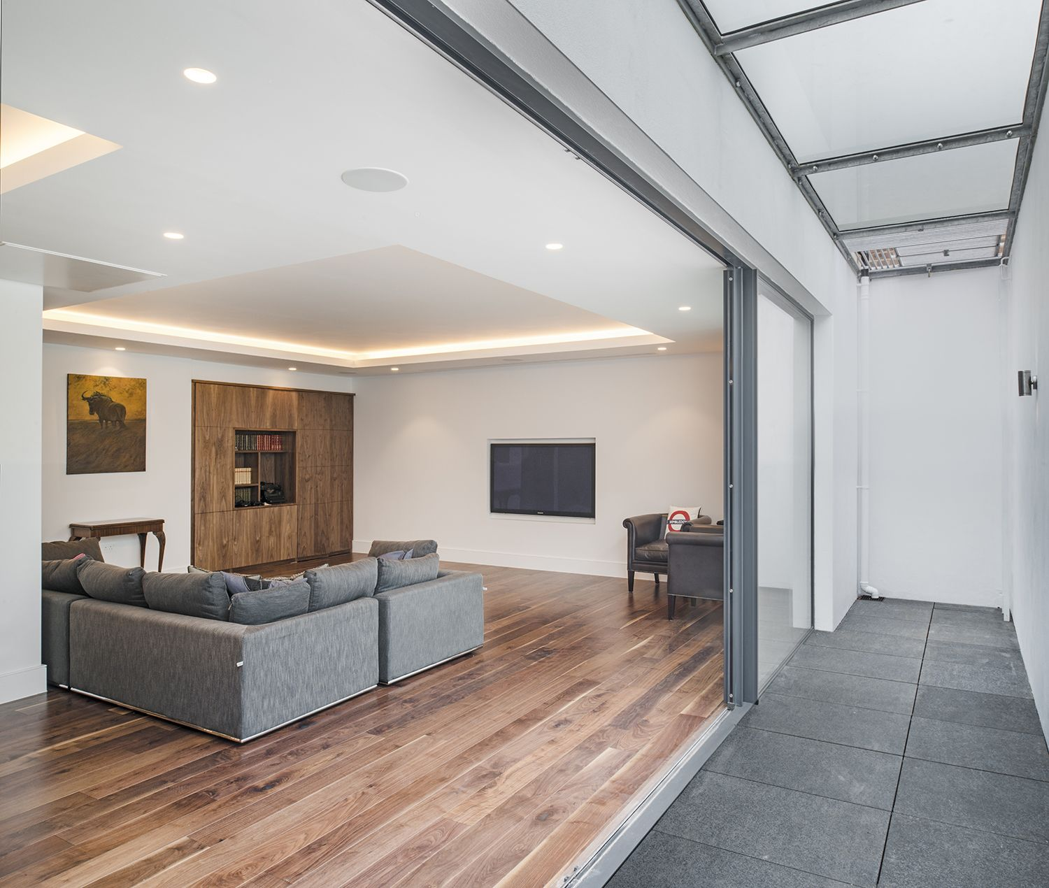 With A Full Width Lightwell Constructed With A Walkable