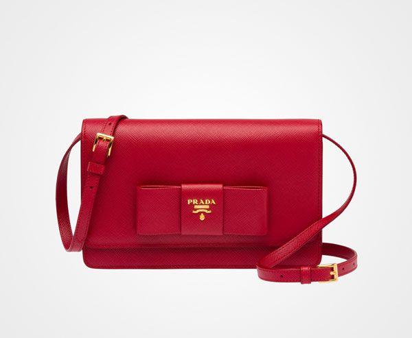 d85ab8f646 Nylon shoulder bag   Fashion   Prada small bag, Bags, Red prada bag
