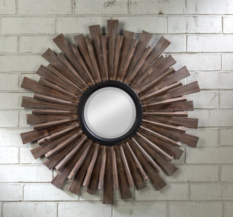 Wall Mirror - Starburst Multidimensional Wood | Decorating ...