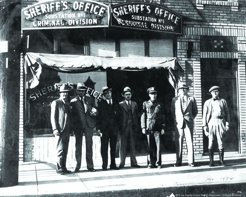 Firestone Station, November 1932 La county sheriff