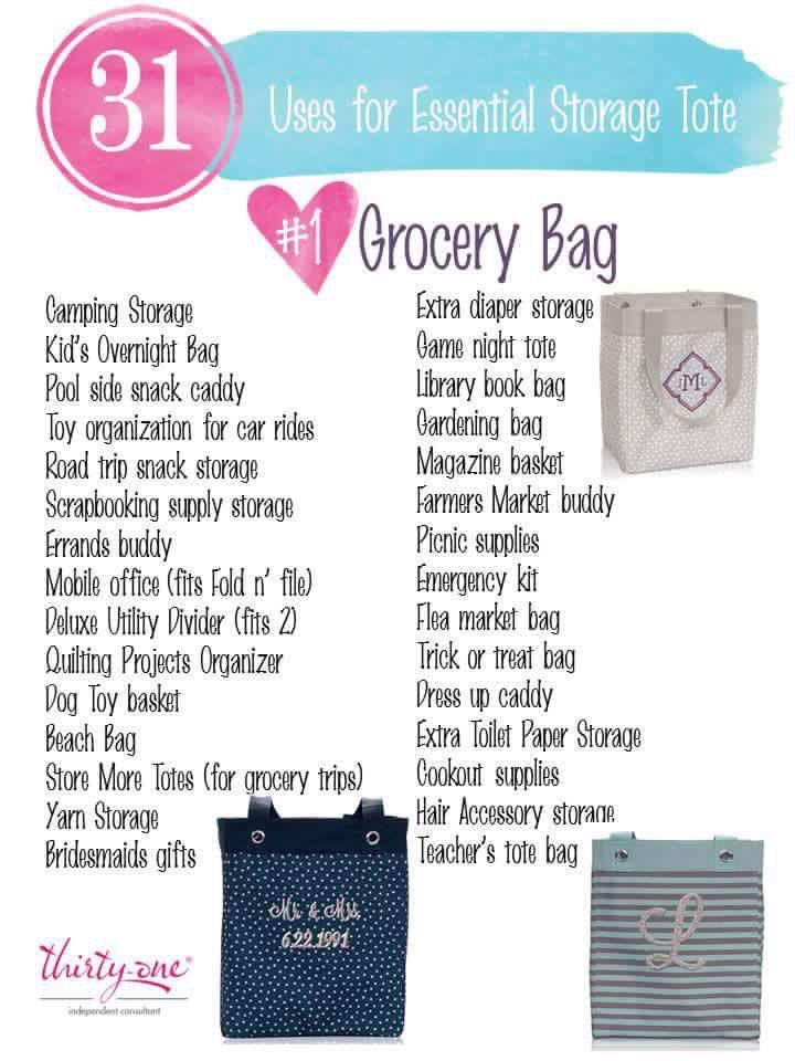 31 Uses For The Essential Storage Tote Thirty One Gifts Thirty