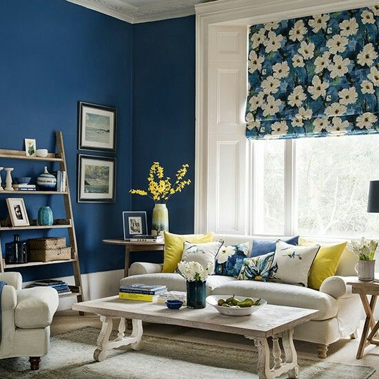 Best Little Greene Woad Blue And Yellow Living Room Brown 400 x 300