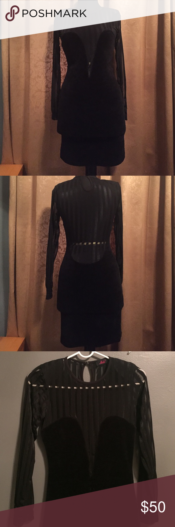 Long sleeve bodycon dress minis sleeve and dress black