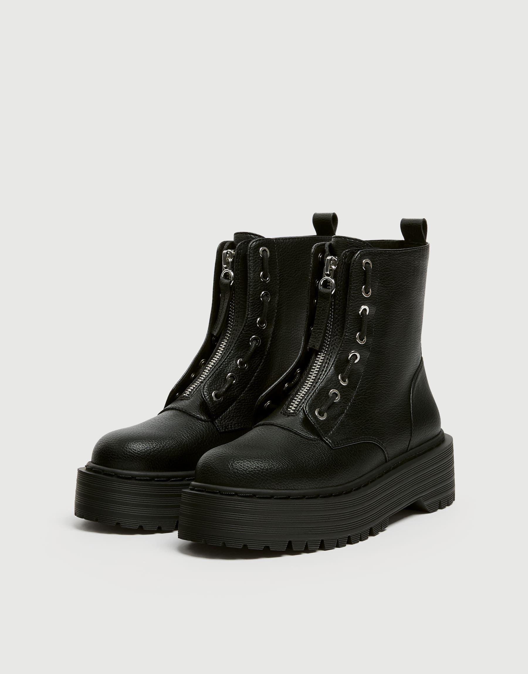 Platform boots, Chunky heels boots